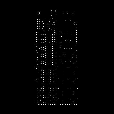 Noise Square PCB + blank wood face plate + Atmega