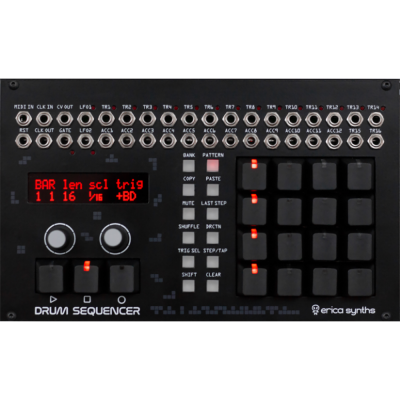 Drum Sequencer - Black Techno System